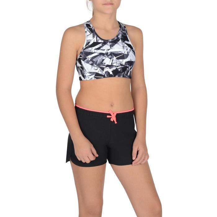 Bustier S900 Gym Kinder schwarz/rosa mit Print