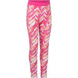 Leggings 500 Gym Mädchen rosa mit Print