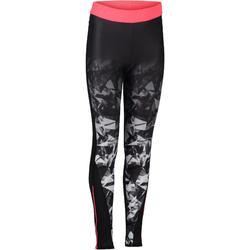 S900 Girls' Gym Leggings - Ombré Black/Grey
