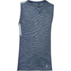 Camiseta sin mangas 500 gimnasia niño gris