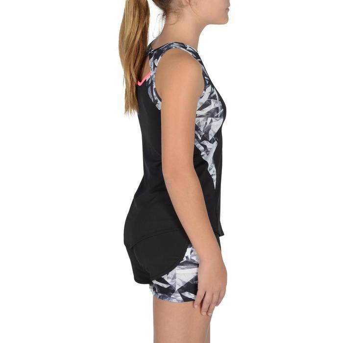 Camiseta sin mangas S900 gimnasia niña estampado negro