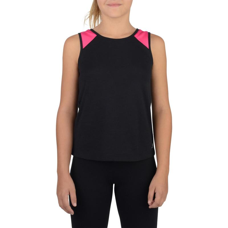 Camiseta Regata Infantil Feminina de Fitness Domyos  7f836326dcb