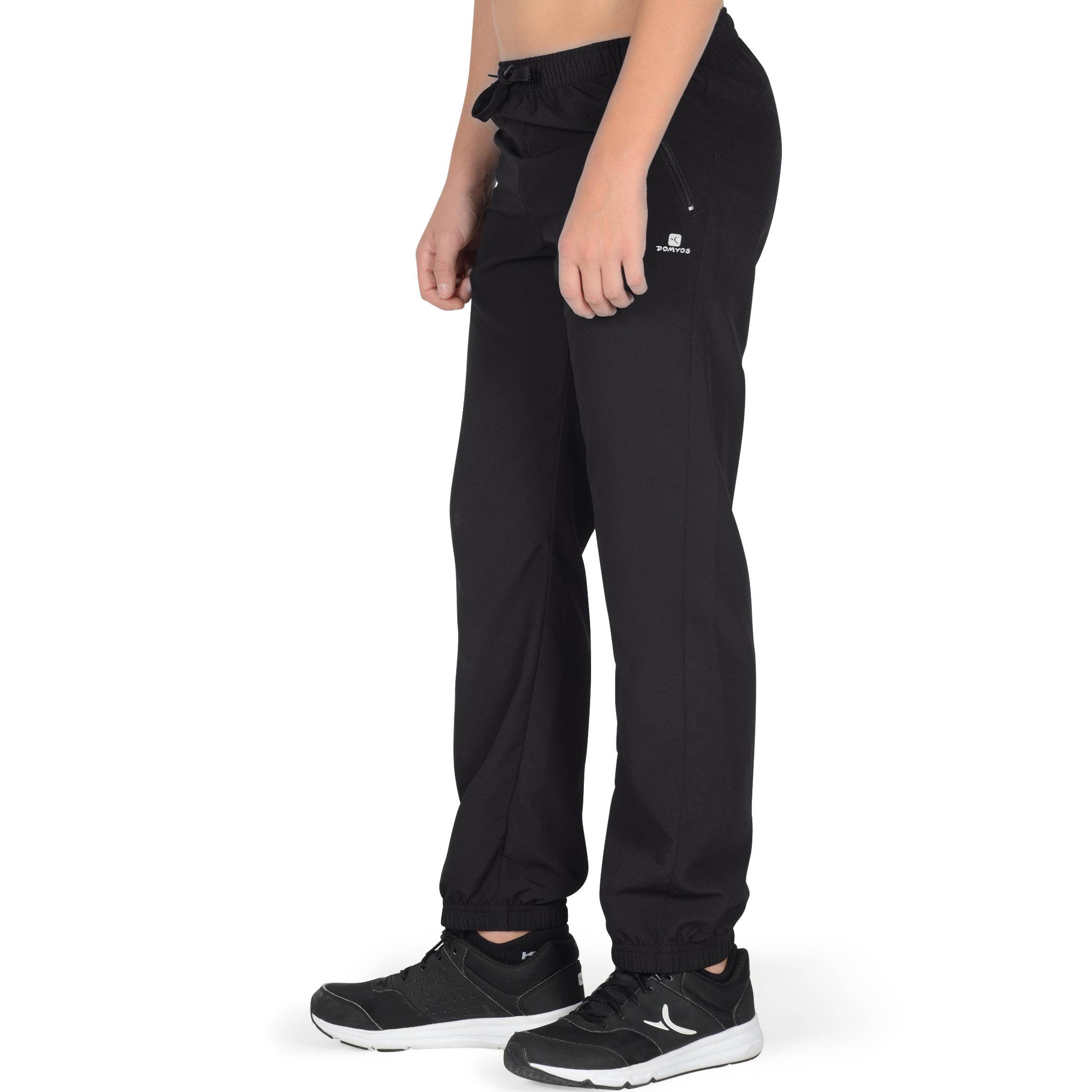 560 Boys' Gym Bottoms With Pockets - Black