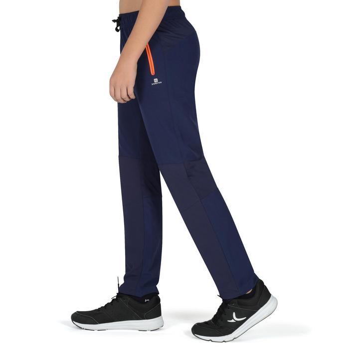 Pantalon léger W900 Gym garçon marine jaune - 1326435