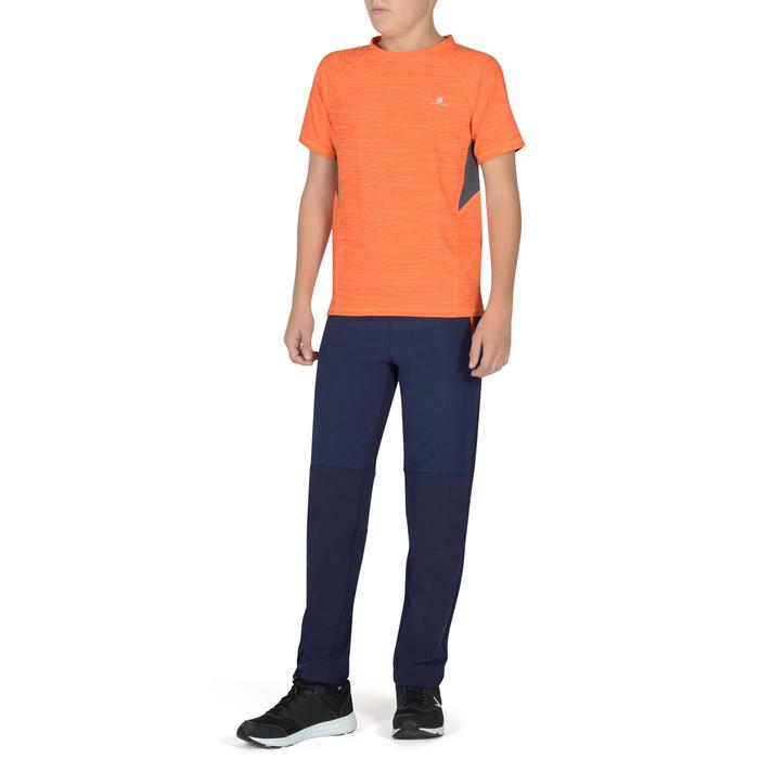 Pantalon léger W900 Gym garçon marine jaune - 1326438