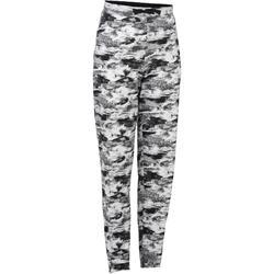 Pantalon léger 500 Gym Fille imprimé blanc