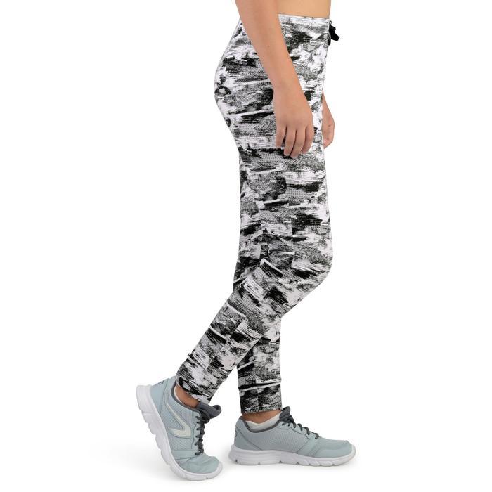 Sporthose leicht 500 Gym Mädchen weiß mit Print