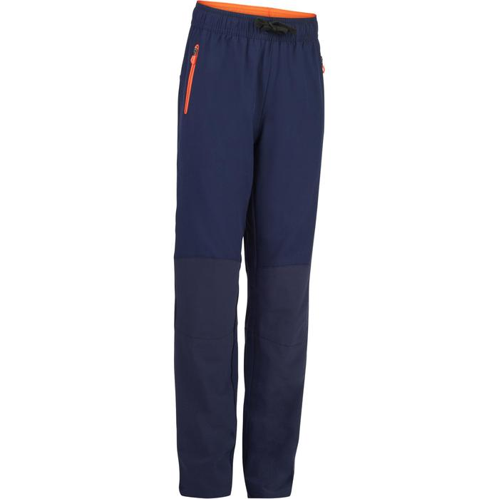 Pantalon léger W900 Gym garçon marine jaune - 1326453