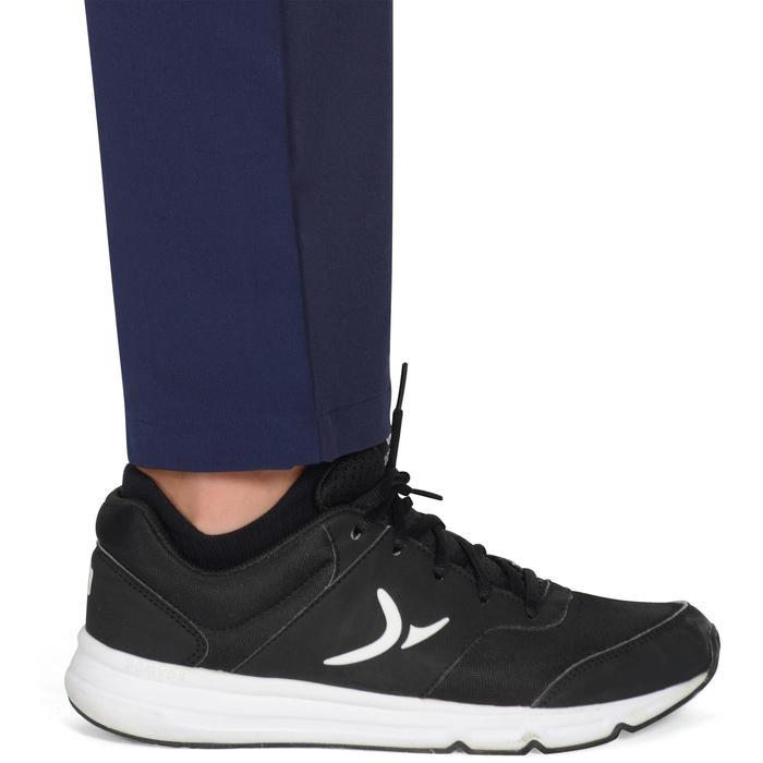 Pantalon léger W900 Gym garçon marine jaune - 1326457