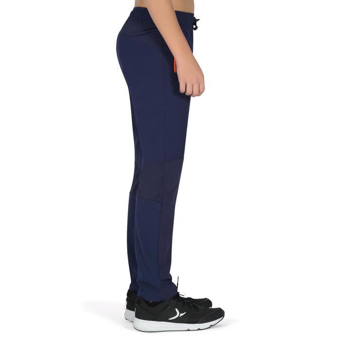 Pantalon léger W900 Gym garçon marine jaune - 1326466