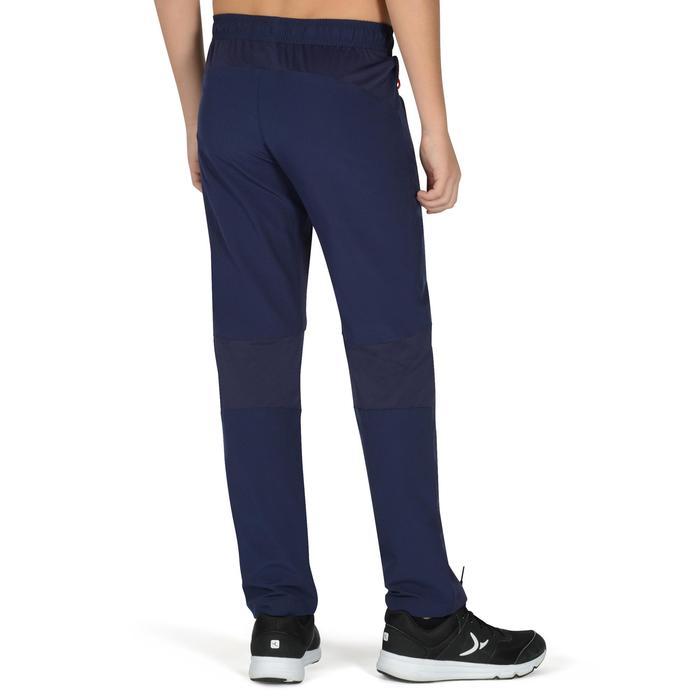 Pantalon léger W900 Gym garçon marine jaune - 1326474