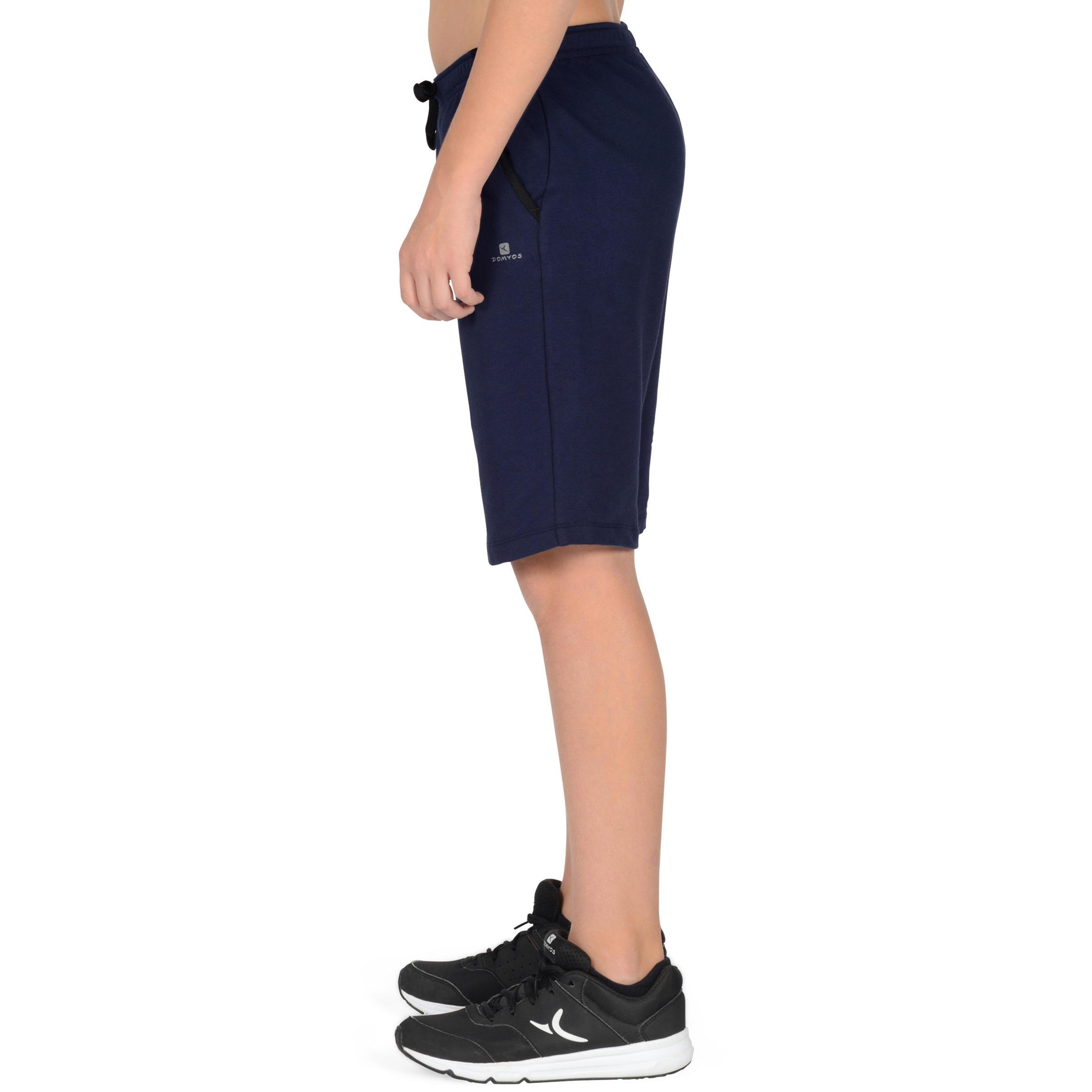 500 Boys' Gym Shorts with Pockets - Navy