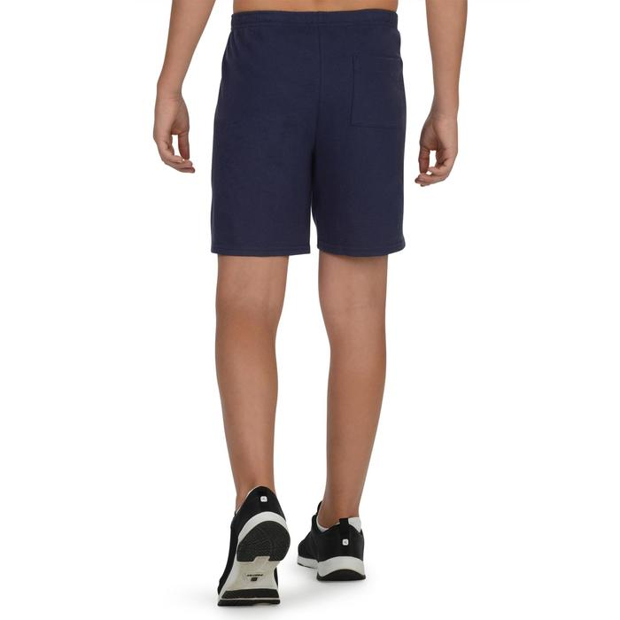 Sporthose kurz 100 Gym Kinder blau