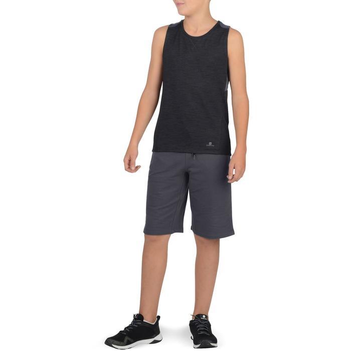 500 男童健身房運動短褲 (附口袋) - 黑色