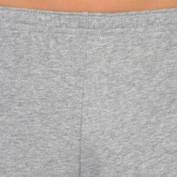 Sporthose kurz 100 Gym Kinder grau
