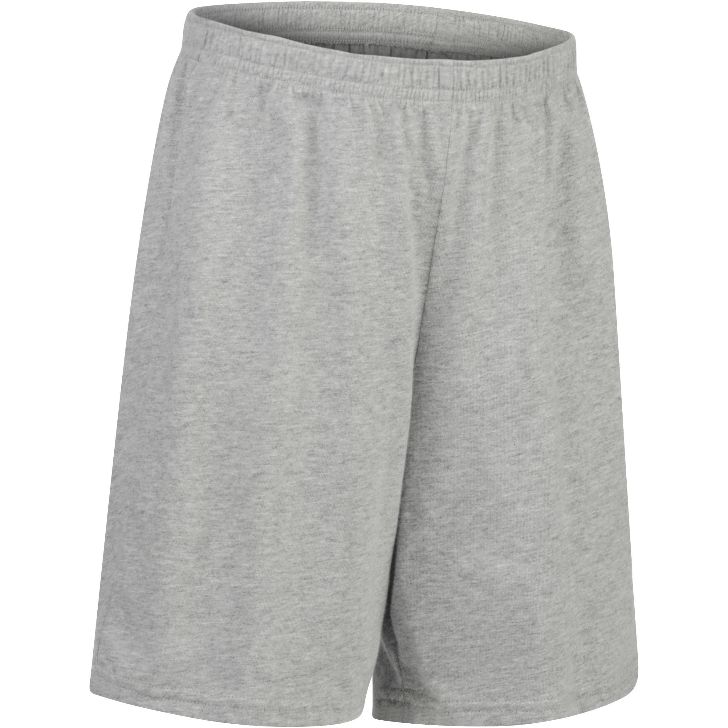 Short 100 gimnasia niño gris