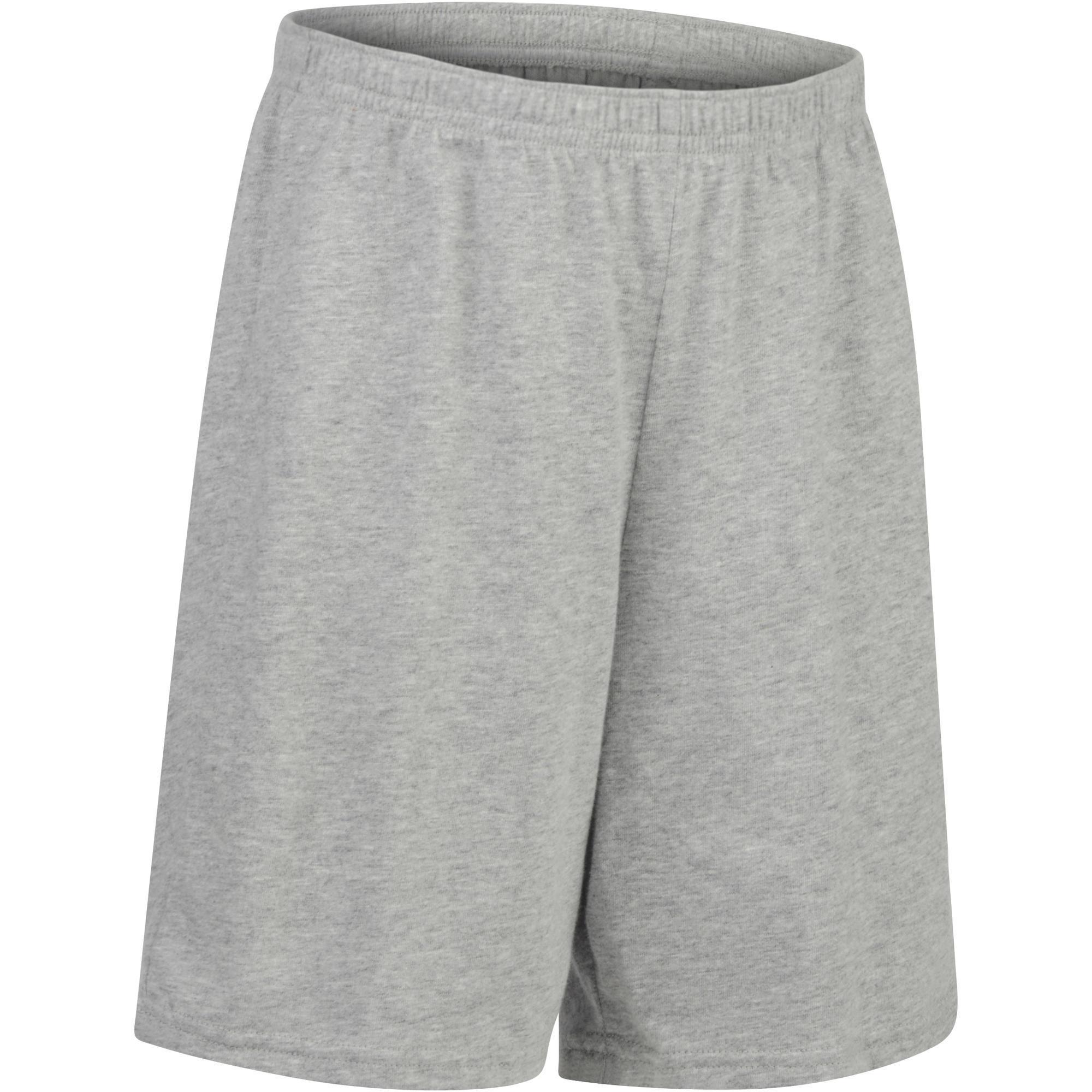 Domyos Gymshort 100 voor jongens grijs
