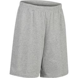 Gymshort 100 voor jongens grijs