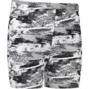 100 Girls' Gym Shorts - Black/White Print