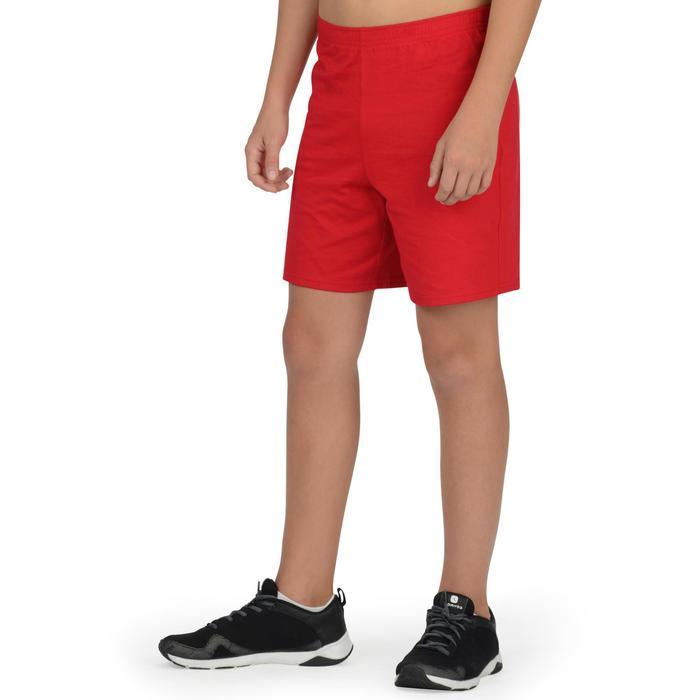 Short 100 Gym Garçon rouge