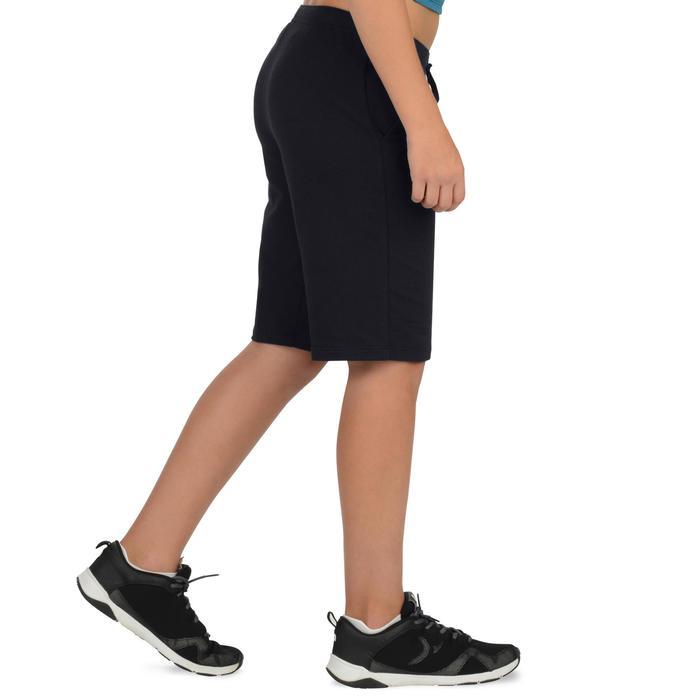 Sporthose kurz 500 Gym Kinder schwarz