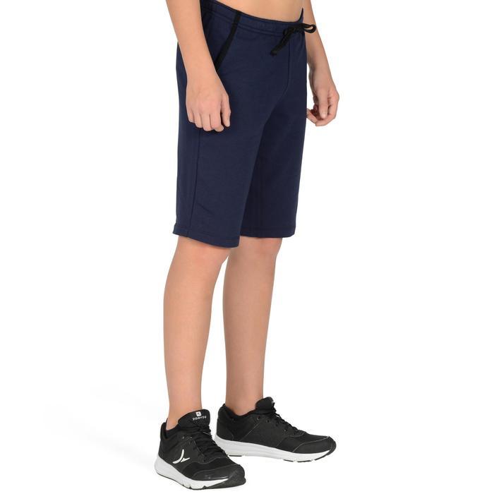 Sporthose kurz 500 Gym Kinder marineblau