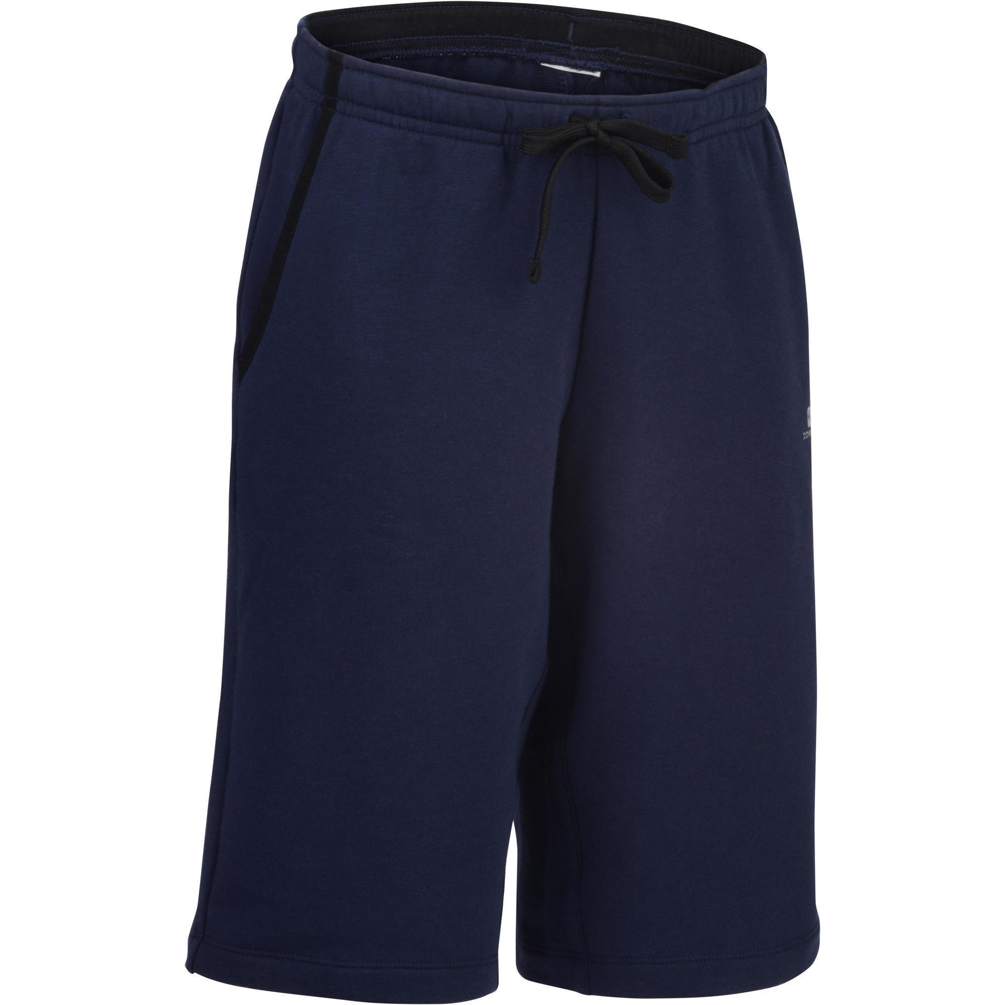 fd2bbf95b Vêtements enfant - Short 500 Gym Garçon poches marine