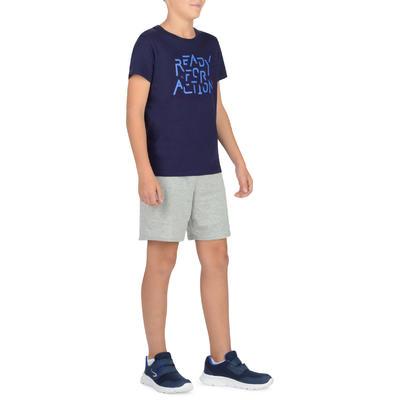 تيشيرت رياضي 100 بأكمام قصيرة للأولاد - مطبوع/أزرق
