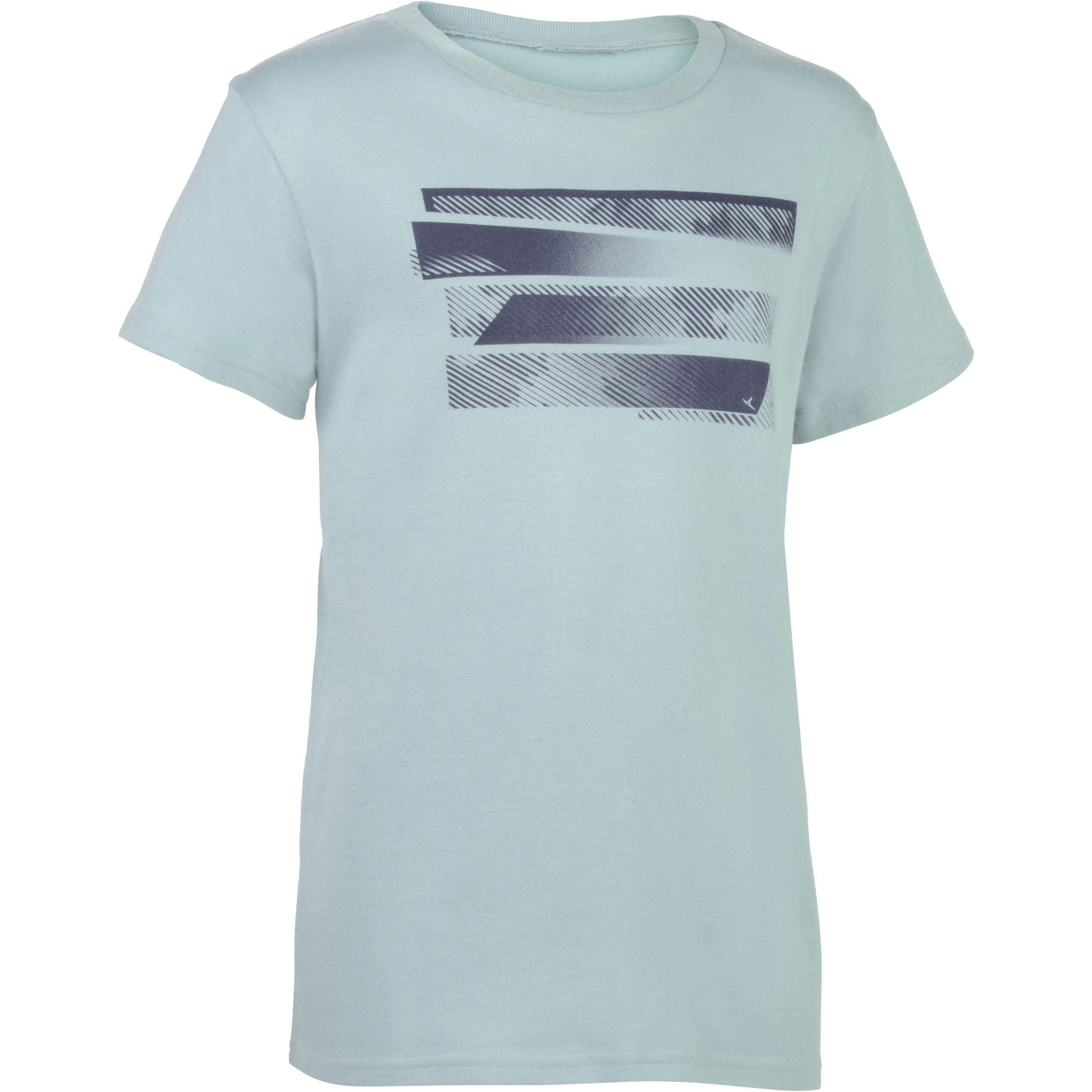 Tee-shirt 100 manches courtes gym garçon imprimé gris