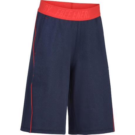 6d469d04ed9fb Short 960 Gym Garçon bleu rouge   Domyos by Decathlon