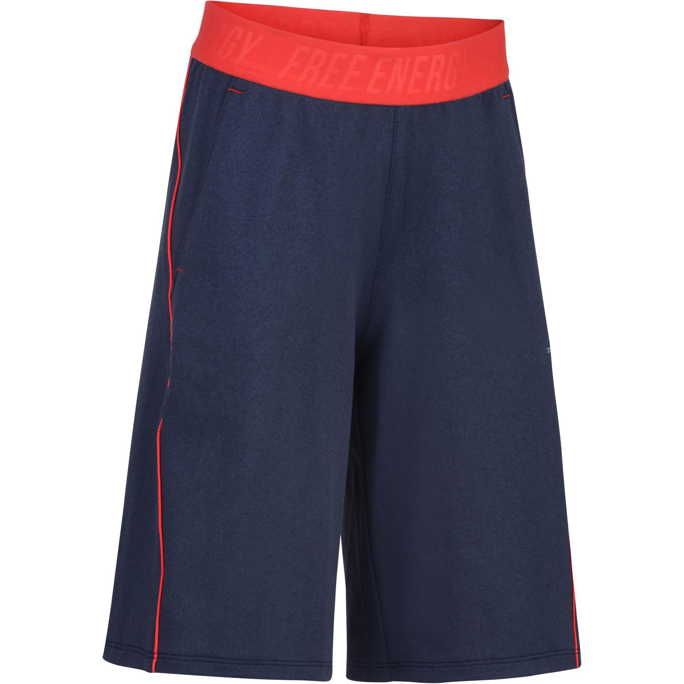 Jungen,Kinder,Kinder Sporthose kurz S900 Gym Kinder blau rot | 03608419236859