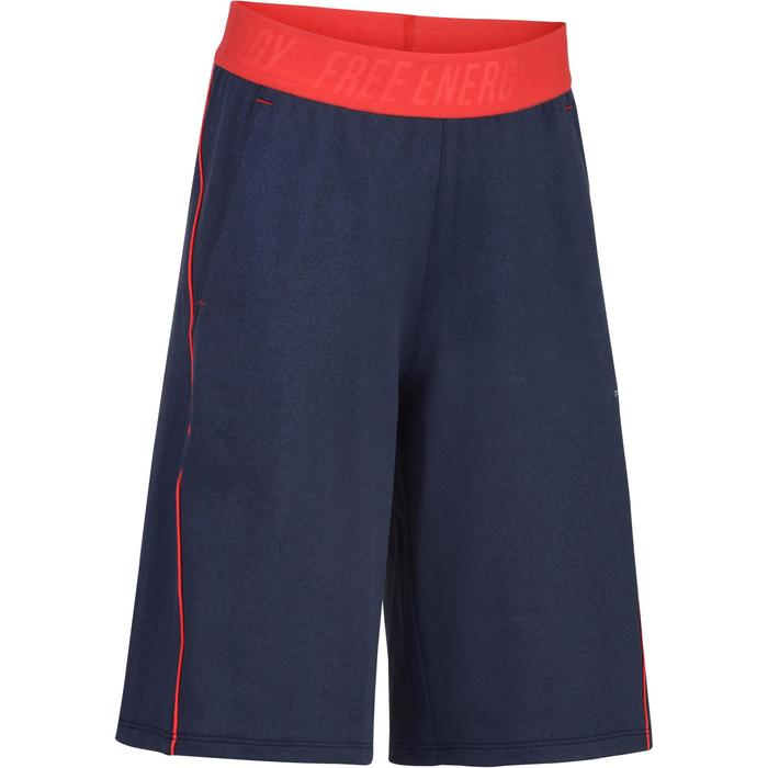 Sporthose kurz S900 Gym Kinder blau/rot