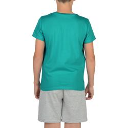 100 Boys' Short-Sleeved Gym T-Shirt - Blue Print