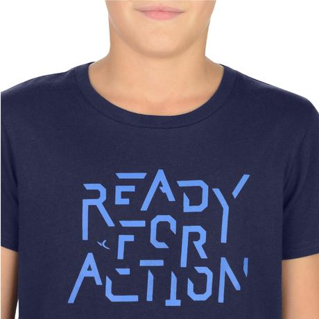T-shirt bambino gym 100 azzurra con stampa. Previous. Next 35e019a2c454