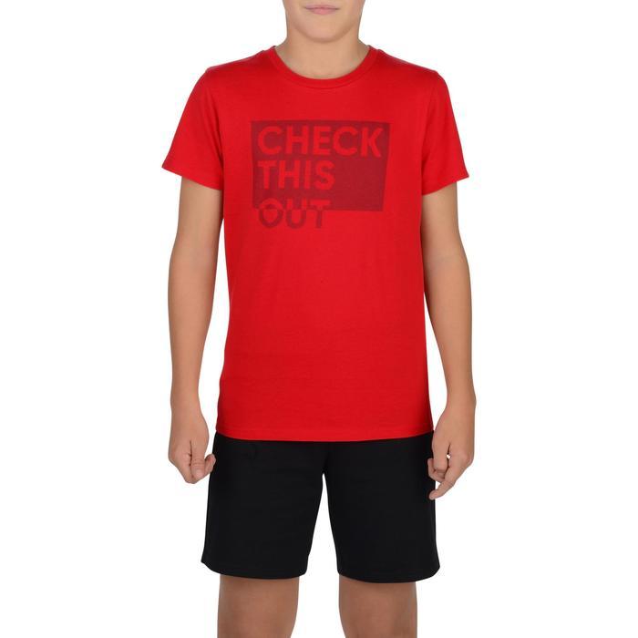 T-Shirt manches courtes 100 Gym garçon imprimé - 1326665