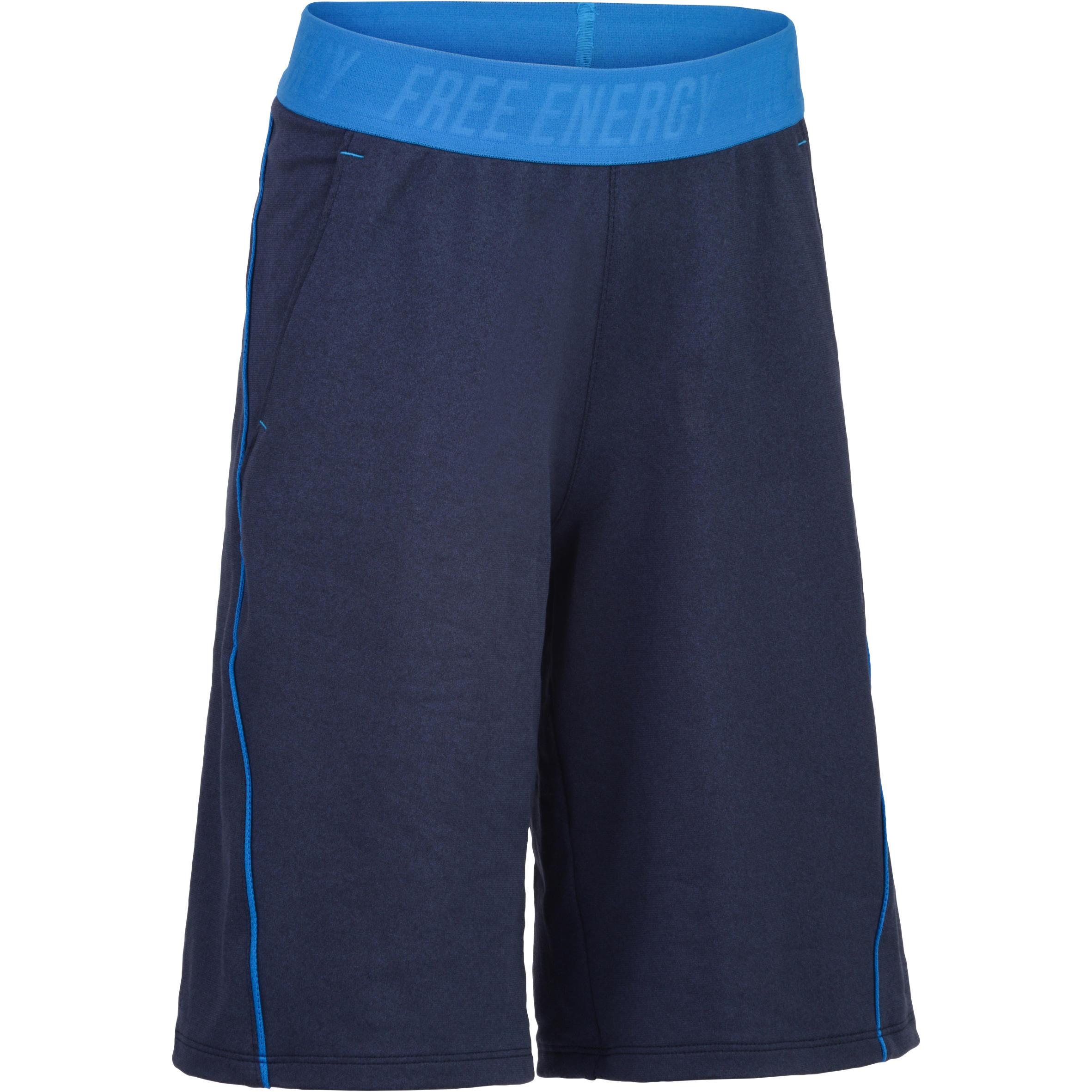 Short 960 gym garçon bleu