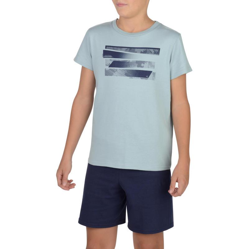 T-Shirt 100 manches courtes Gym Garçon imprimé gris