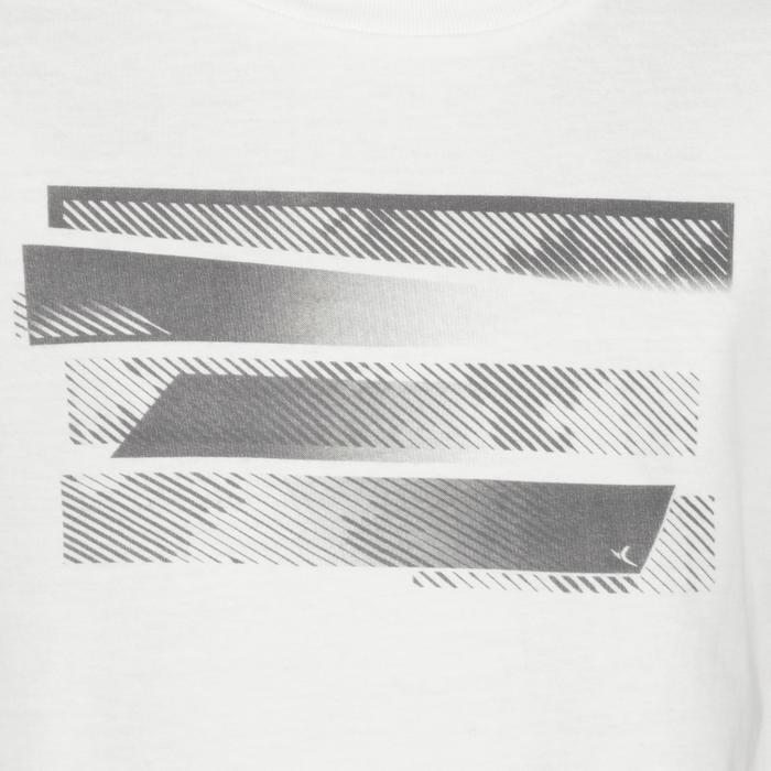 T-Shirt manches courtes 100 Gym Garçon blanc imprimé