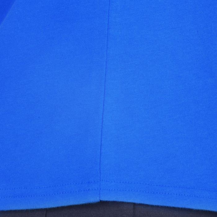 Gym T-shirt 100 met korte mouwen voor jongens blauw met opdruk