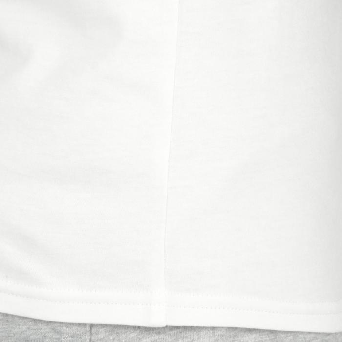 Camiseta de manga corta 100 gimnasia Niños blanco estampado