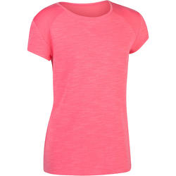S500 Girls' Short-Sleeved Gym T-Shirt - Pink
