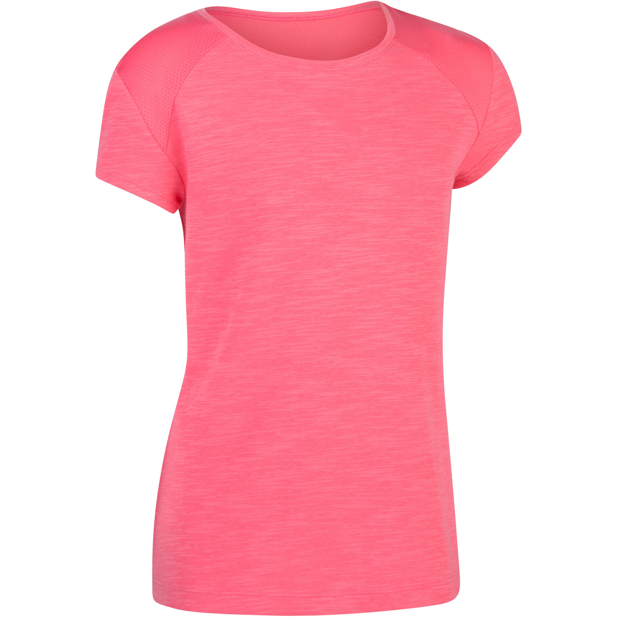 Tee-shirt 560 manches courtes gym fille rose