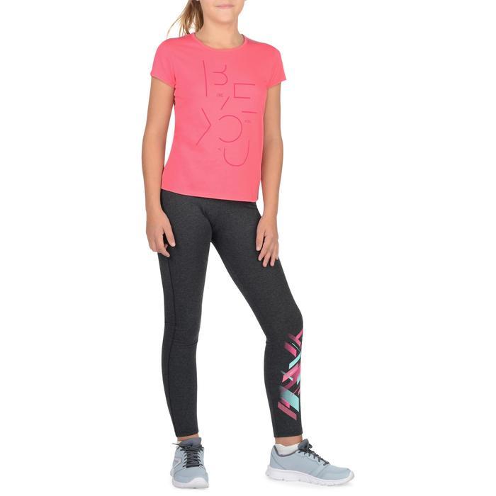 T-Shirt manches courtes 100 Gym fille imprimé - 1326764