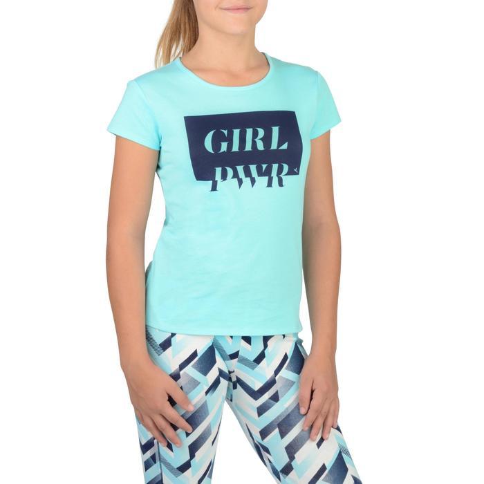 T-Shirt manches courtes 100 Gym fille imprimé - 1326765