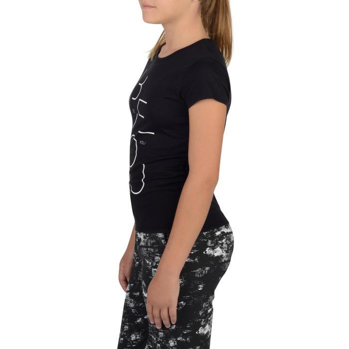 T-Shirt Kurzarm 100 Gym Kinder schwarz mit Print