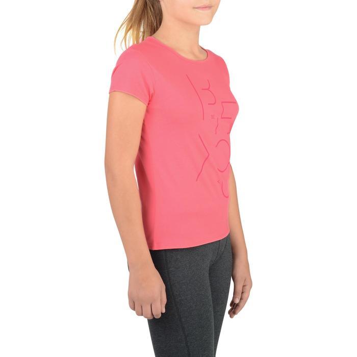T-Shirt manches courtes 100 Gym fille imprimé - 1326778