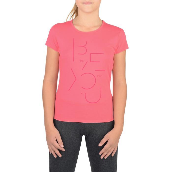 T-Shirt manches courtes 100 Gym fille imprimé - 1326806