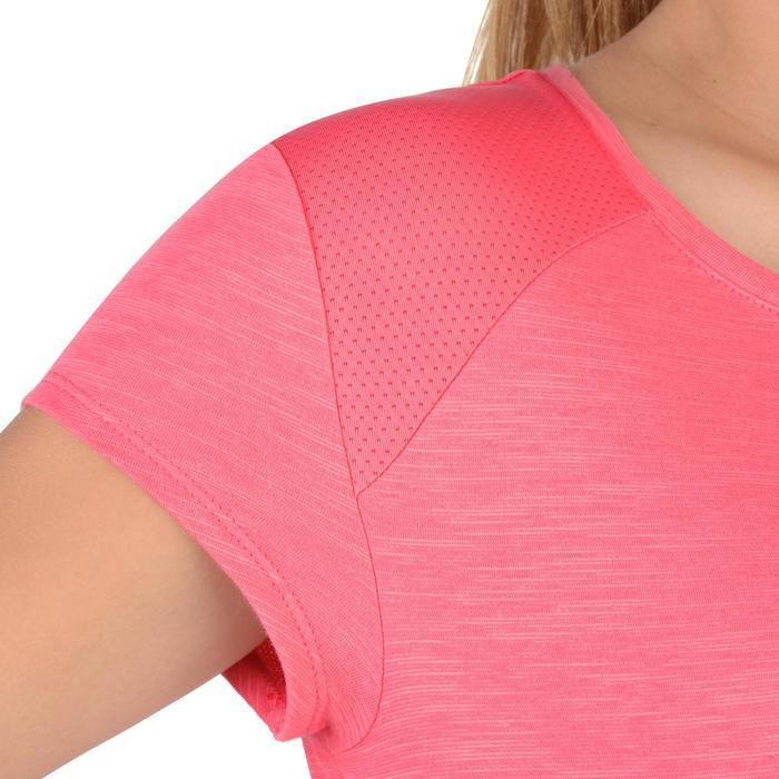 Camiseta De Manga Corta De Gimnasia Domyos S500 Transpirable Niña Rosa