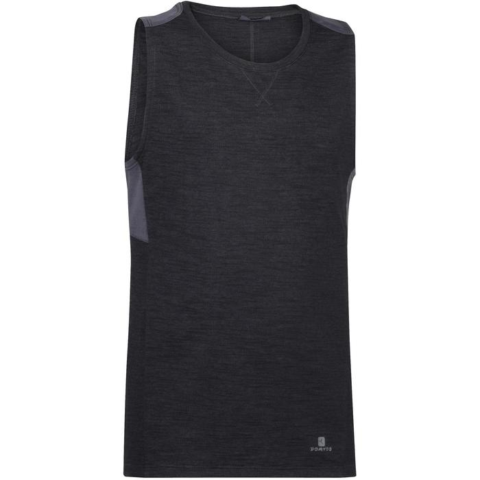 Camiseta sin mangas 500 gimnasia niño negro