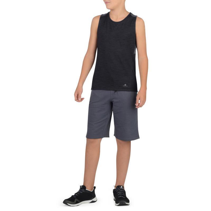 500 Boys' Gym Tank Top - Black